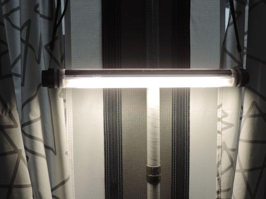 Die Camping Beleuchtung mit LED auf Akkubetrieb