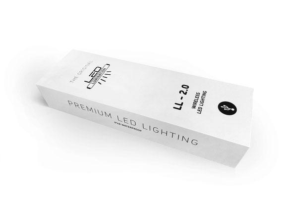 Kabellose LED Beleuchtung für Sonnenschirm
