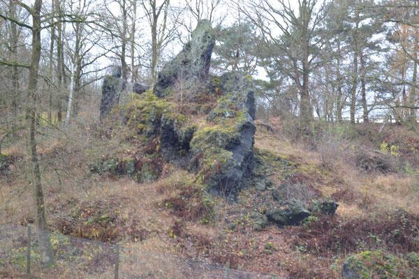 Basaltgang in der Nordgrube