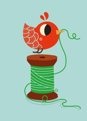 sewing bird - easy shop design