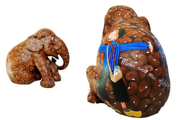 Ik bid niet voor bruine bonen - Painted elephant For Drentse Olifantenparade 2010