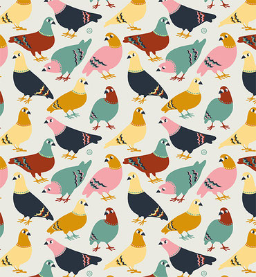 Pigeons - available as fabric on www.spoonflower.com