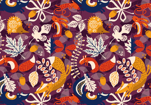 Lots of leaves - available as fabric on www.spoonflower.com