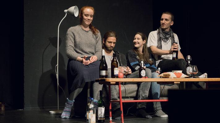 "Nina Bruns, Moritz Tölle, Mia Lehrnickel and Till Falkenberg in ""Rebellen"", Directed by Anton August Dudda, Photographed by Florian Hohensee"