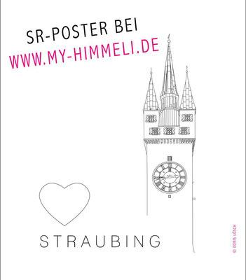 Straubing Poster, Stadtturm Straubing