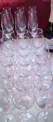 Verleih von Wein- und Sektgläsern