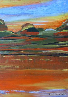 Acrylgemälde Herbst abstrakt, Größe 50 x 70 x 2cm, Jahr 2016, Preis 480€