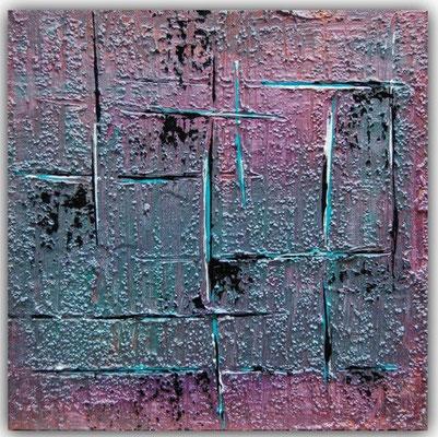 Acrylgemaelde, Abstrakt- Struktur in der Größe 30 x 30 x 4cm. Preis 180,- von 2014