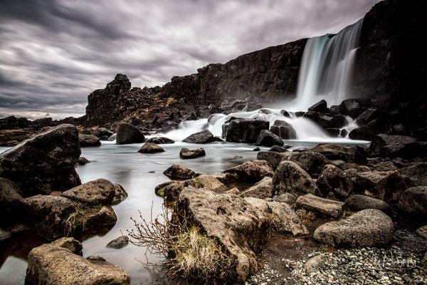 Island, Öxarárfoss, Wasserfall, Langzeitbelichtung, 2015, © Silly Photography