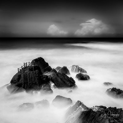 Portugal / Praia do Formosa, Santa Cruz, Langzeitbelichtung, 2016, © Silly Photography