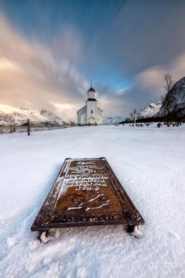 Lofoten / Gimsø, Kirche, Langzeitbelichtung, 2019, © Silly Photography