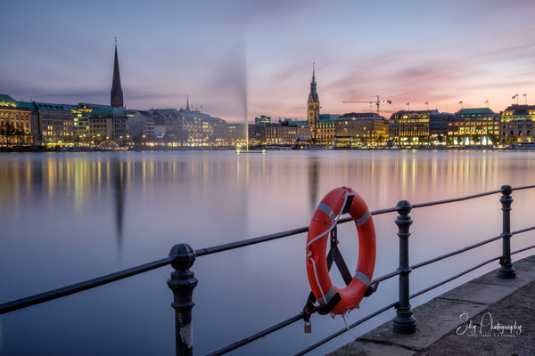 Hamburg / Binnenalster,Langzeitbelichtung, 2019, © Silly Photography
