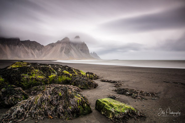 Island, Vestrahorn, Stokksnes Beach, Langzeitbelichtung, 2015, © Silly Photography