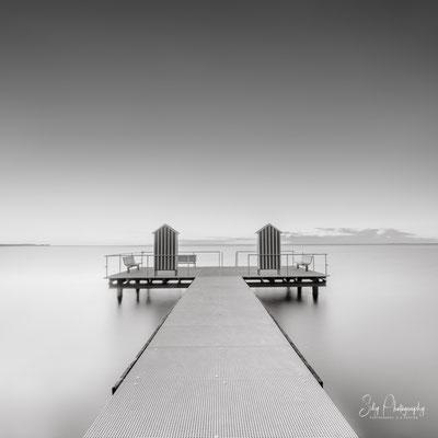 Stein / Ostsee,  Badesteg, Langzeitbelichtung, 2019, © Silly Photography