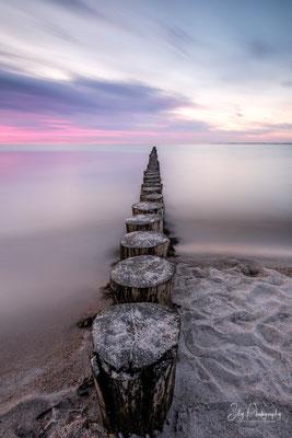 Heiligenhafen, Ostsee, Buhnen, Langzeitbelichtung, 2019, © Silly Photography