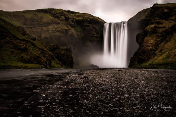 Island, Skógafoss, Wasserfall, Langzeitbelichtung, 2015, © Silly Photography