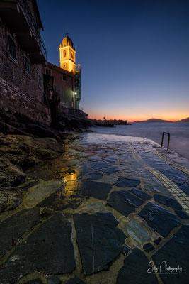 Italien / Ligurien / Tellaro, Langzeitbelichtung, Sonnenuntergang, 2019, ©Silly Photography
