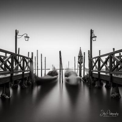 Venedig / Venezia, Piazza San Marco, Gondeln, Italien, Langzeitbelichtung, 2017, © Silly Photography