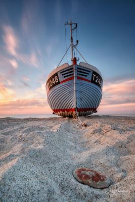 Dänemark / Nordjütland / Vorupør, Fischerboot, Langzeitbelichtung, 2016, © Silly Photography