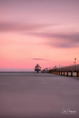 Grömitz, Ostsee, Seebrücke, Sonnenuntergang, Langzeitbelichtung, 2018, © Silly Photography