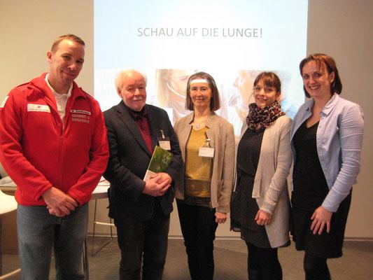 v.l.n.r. Markus Schrittwieser, Günther Wanke, Helga Wanke, Irene Senn, Claudia Paal