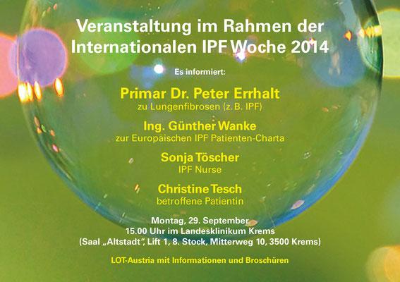 Informationsveranstaltung mit Ärzten für IPF PatientInnen