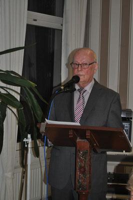 Der Vorsitzende Werner Echle bei seinem Rechenschaftsbericht      Foto: Claudia Wildi
