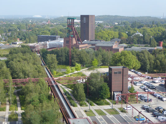 Blick vom höchsten Punkt der Zeche Zollverein