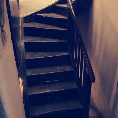 Treppe mit überraschenden Einsichten