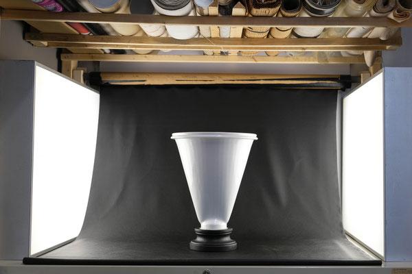 Vase, Kaffeefilter, Pokal, Objekt, Upcycling, Wolfgang Wallner, Hall in Tirol