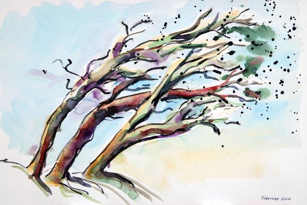 Es geht um die Idee der Bewegung, nicht um die reale Darstellung von Bäumen