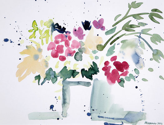 Darstellung des Wesentlichen eines Blumenstrausses