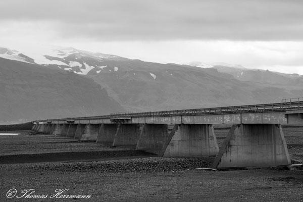 Straßenbrücke über die Skeiðará Island