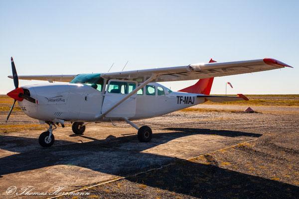 Unser Flugzeug nach Landmannakaugar - Island 2013