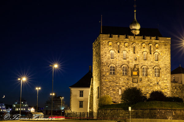 Festung Bergenhus by Night 2014