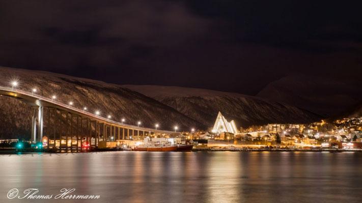 Tromsö bei Nacht - Nordnorwegen 2015