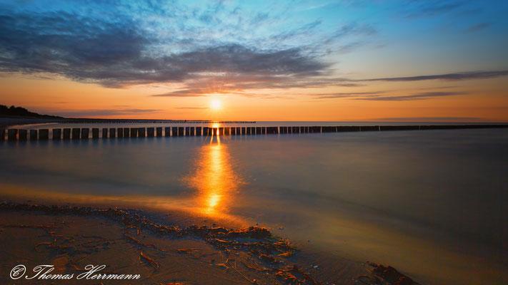 Sonnenuntergang an der Ostesee - Nahe Zingst 2016