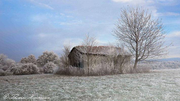 stille und friedvolle Winterlandschaft - Gedern