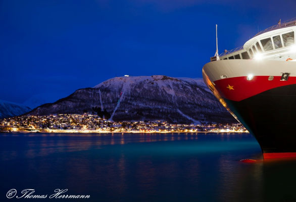 Hurtigrutenanlegestelle in Tromsö - Nordnorwegen 2015