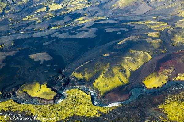 Island aus der Vogelperspektive