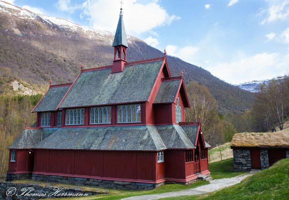 Neue Stabkirche von Borgund 2014