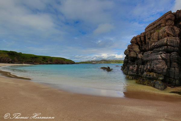 Strand und Bucht der Vogelinsel Handa