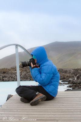 Die Auszubildende des Hobbyfotografen in der blauen Lagune - Island 2013