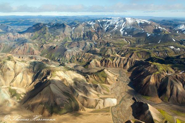 Landmannalaugar aus der Vogelsperspektive - Island 2013