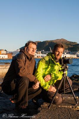 Der Hobbyfotograf mit unserem Freund in Bergen