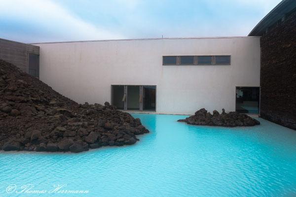 Schwimmbad in der blauen Lagune - Island 2013