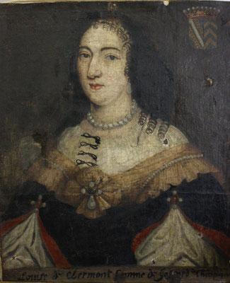 Restauration d'un portrait féminin appartenant au musée de Belfort. Avant restauration