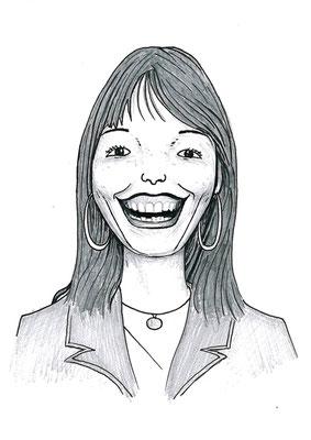 Karikatuur 2 - potlood / zwarte pen op papier 21 x 29.7 cm