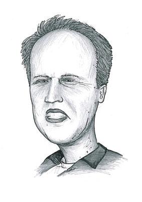 Karikatuur 6 - potlood / zwarte pen op papier 21 x 29.7 cm