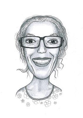 Karikatuur 1 - potlood / zwarte pen op papier 21 x 29.7 cm